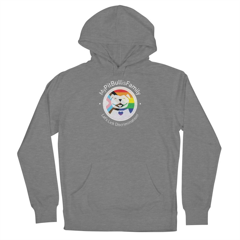 MPBIF Progress Pride Round with Text Men's Pullover Hoody by My Pit Bull is Family Shop