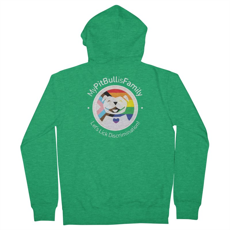 MPBIF Progress Pride Round with Text Women's Zip-Up Hoody by My Pit Bull is Family Shop