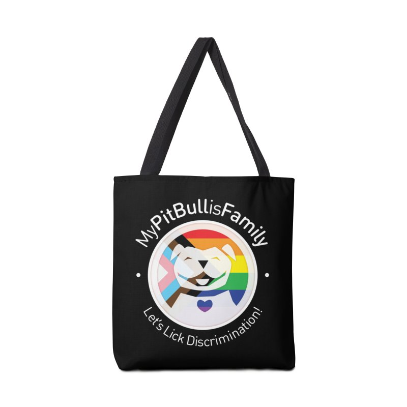 MPBIF Progress Pride Round with Text Accessories Bag by My Pit Bull is Family Shop