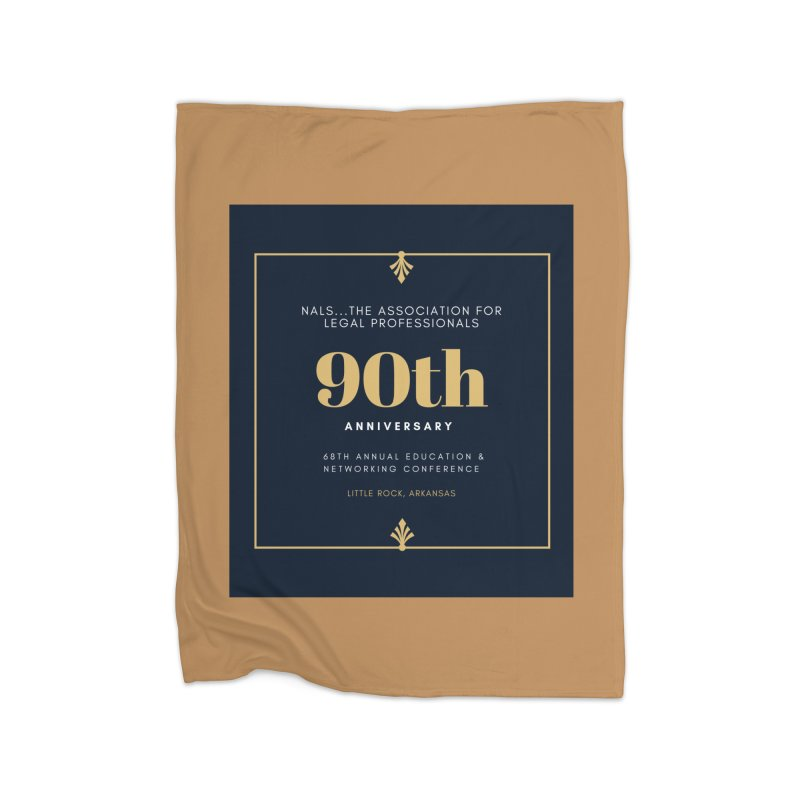 NALS 90th Anniversary Home Fleece Blanket Blanket by NALS Apparel & Accessories