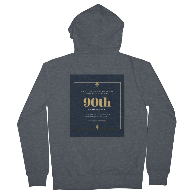 NALS 90th Anniversary Men's French Terry Zip-Up Hoody by NALS Apparel & Accessories