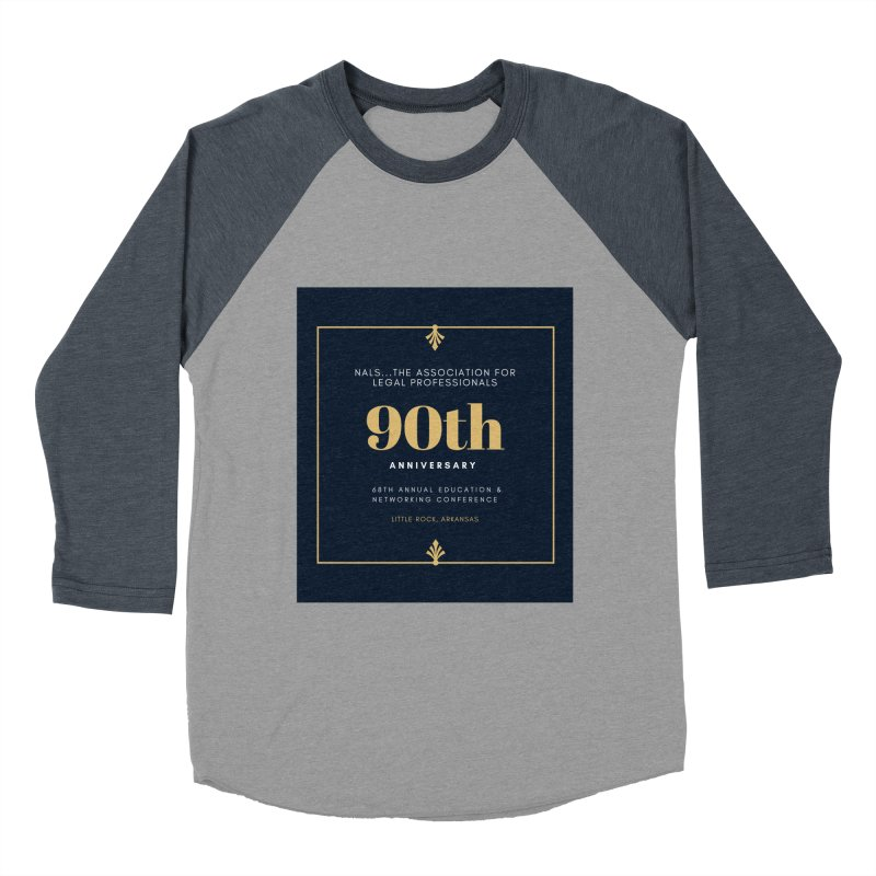 NALS 90th Anniversary Men's Baseball Triblend Longsleeve T-Shirt by NALS Apparel & Accessories