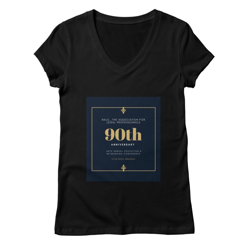 NALS 90th Anniversary Women's Regular V-Neck by NALS Apparel & Accessories