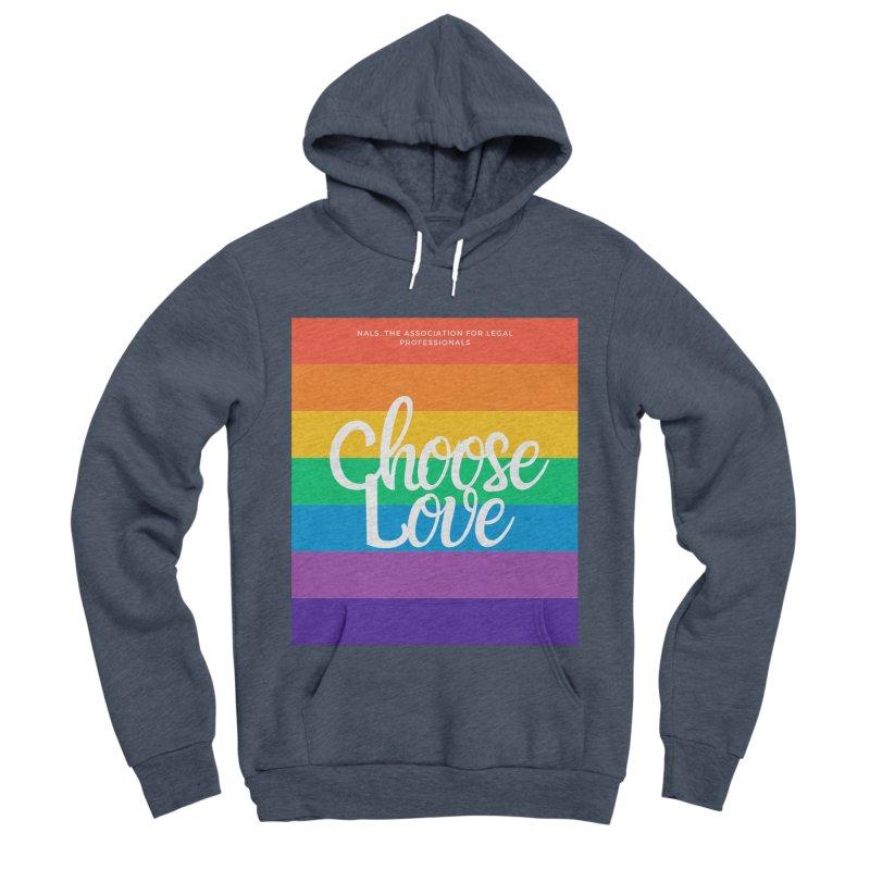 Choose Love Men's Sponge Fleece Pullover Hoody by NALS Apparel & Accessories