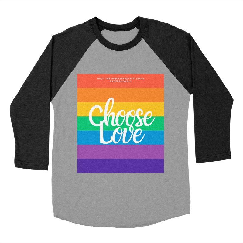 Choose Love Men's Baseball Triblend Longsleeve T-Shirt by NALS Apparel & Accessories