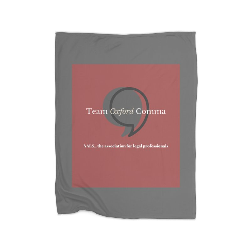 Team Oxford Comma Home Fleece Blanket Blanket by NALS Apparel & Accessories