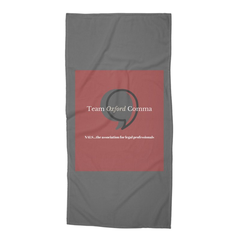 Team Oxford Comma Accessories Beach Towel by NALS Apparel & Accessories