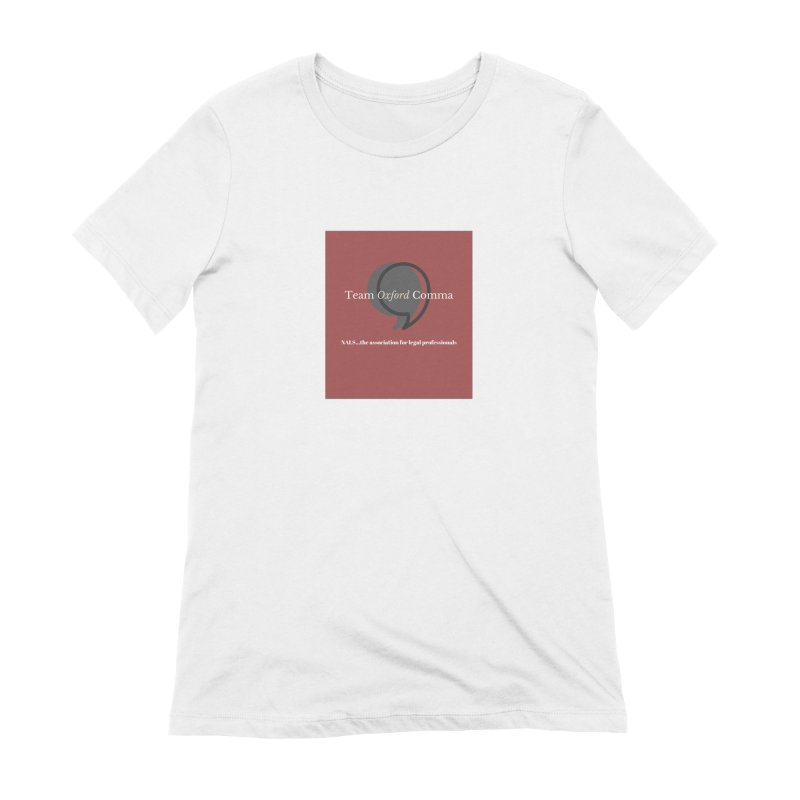 Team Oxford Comma Women's Extra Soft T-Shirt by NALS Apparel & Accessories