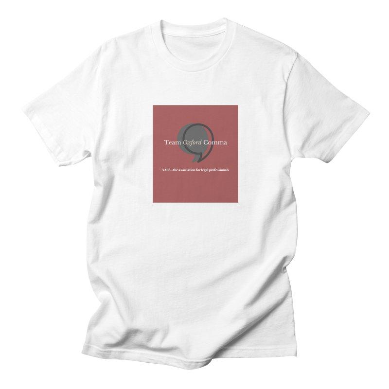 Team Oxford Comma Men's Regular T-Shirt by NALS Apparel & Accessories