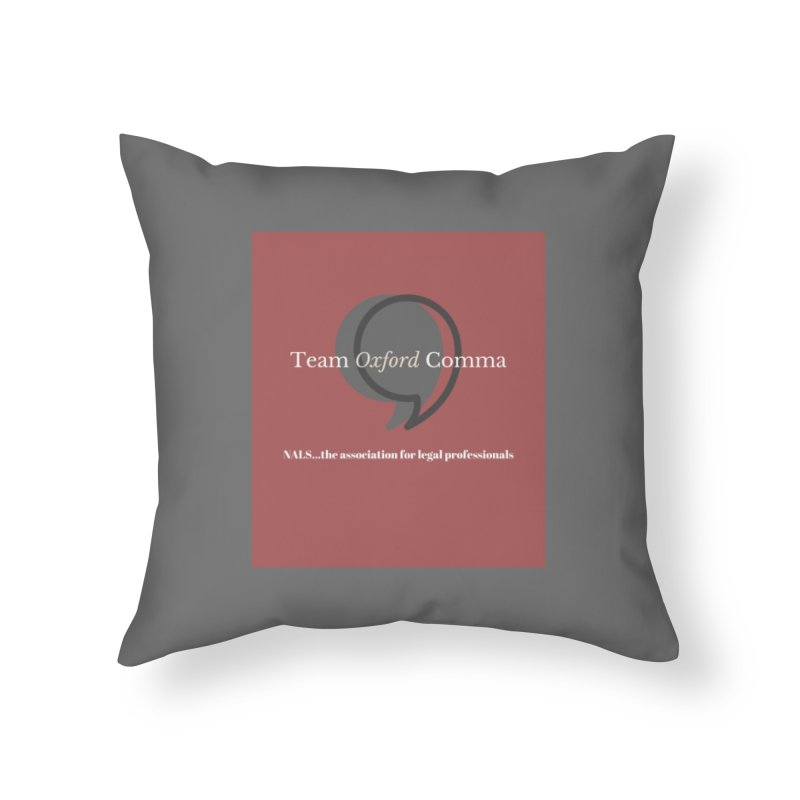 Team Oxford Comma Home Throw Pillow by NALS Apparel & Accessories