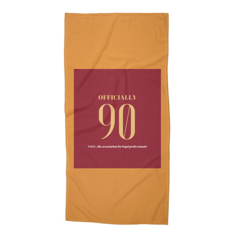 NALS: Officially 90 Accessories Beach Towel by NALS Apparel & Accessories