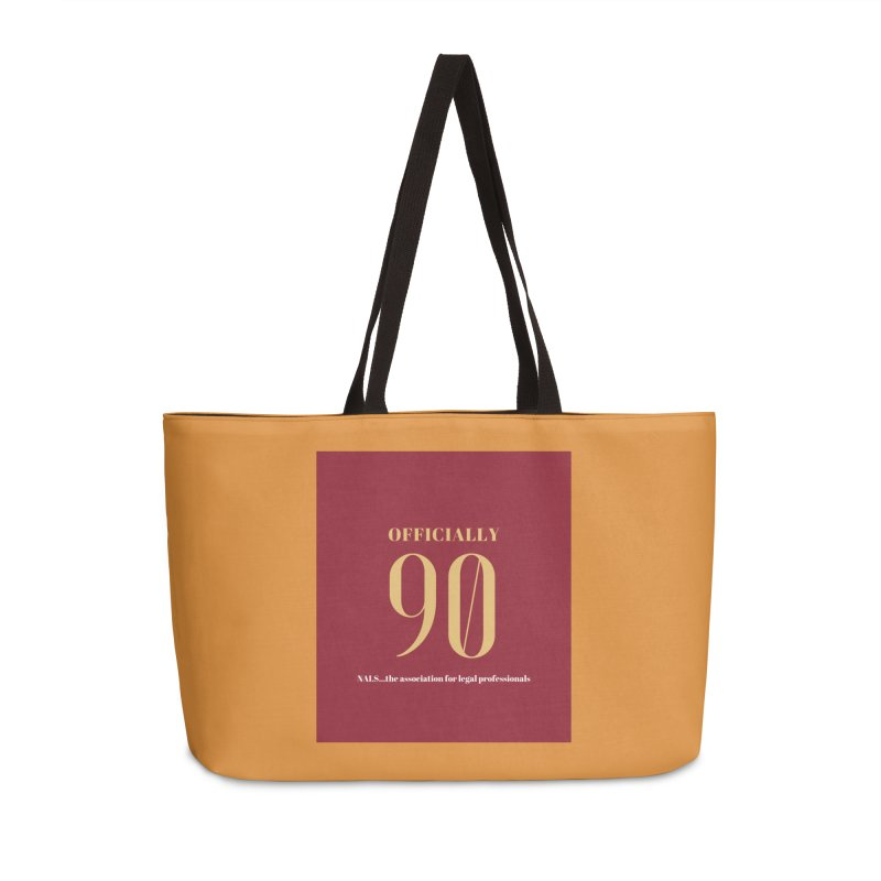 NALS: Officially 90 Accessories Weekender Bag Bag by NALS Apparel & Accessories
