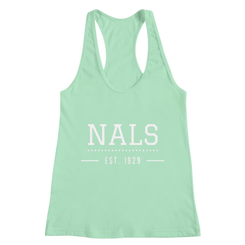 NALS: Established in 1929 Women's Racerback Tank by NALS Apparel & Accessories