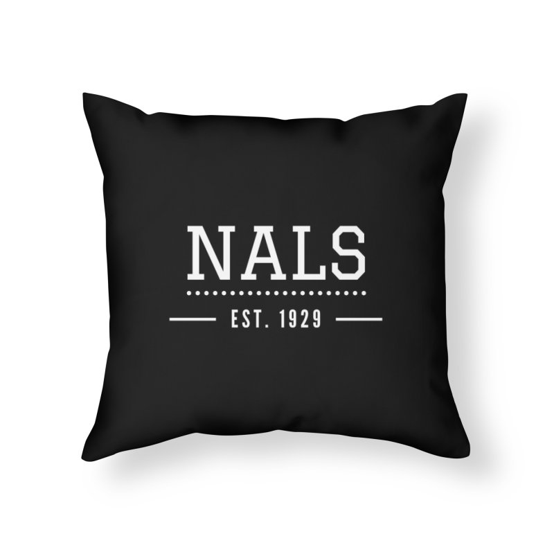 NALS: Established in 1929 Home Throw Pillow by NALS Apparel & Accessories