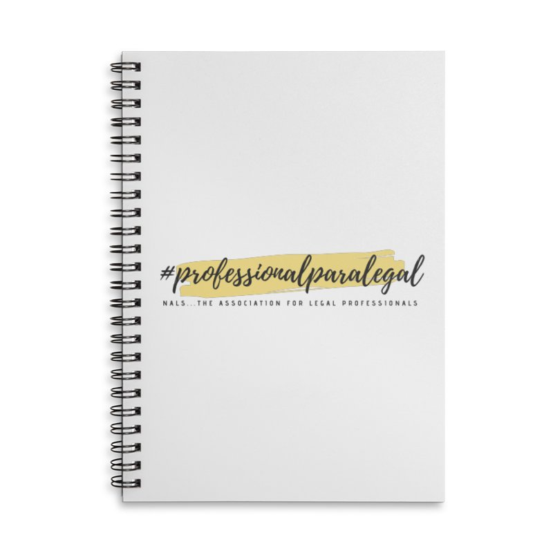 Professional Paralegal Accessories Lined Spiral Notebook by NALS Apparel & Accessories