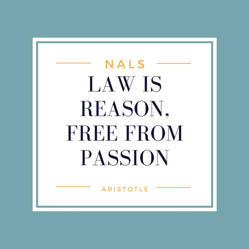 NALS-- Law is Reason. Free From Passion. Accessories Sticker by NALS Apparel & Accessories