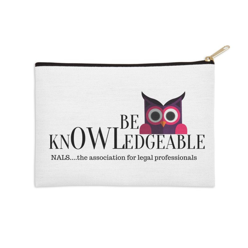 Be Knowledgeable Accessories Zip Pouch by NALS Apparel & Accessories