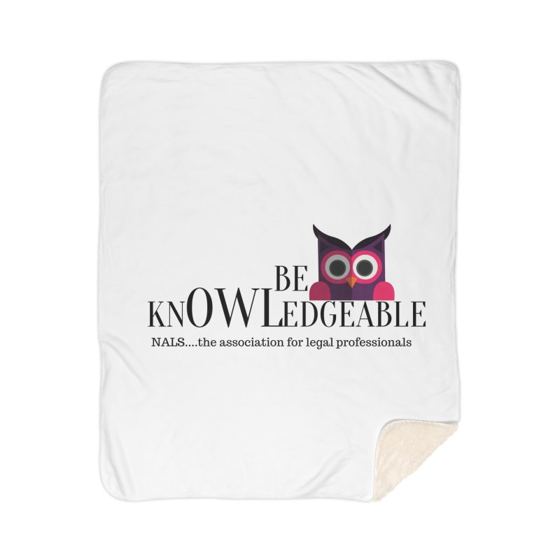 Be Knowledgeable Home Sherpa Blanket Blanket by NALS Apparel & Accessories