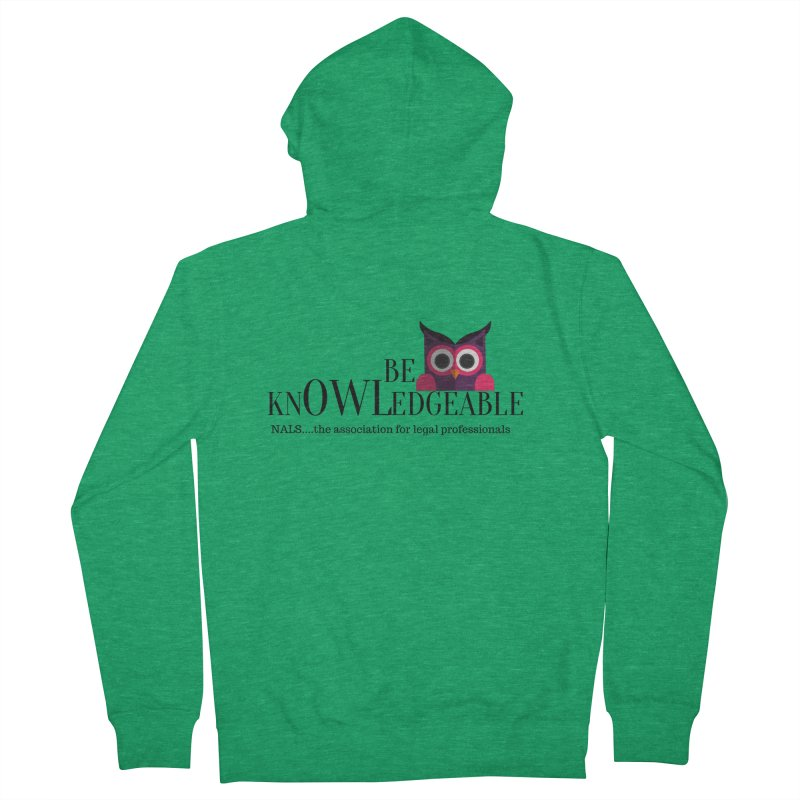 Be Knowledgeable Women's Zip-Up Hoody by NALS Apparel & Accessories