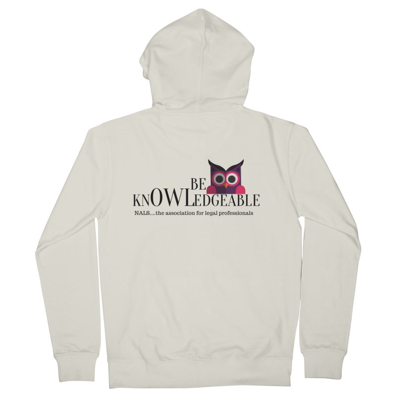 Be Knowledgeable Women's French Terry Zip-Up Hoody by NALS Apparel & Accessories
