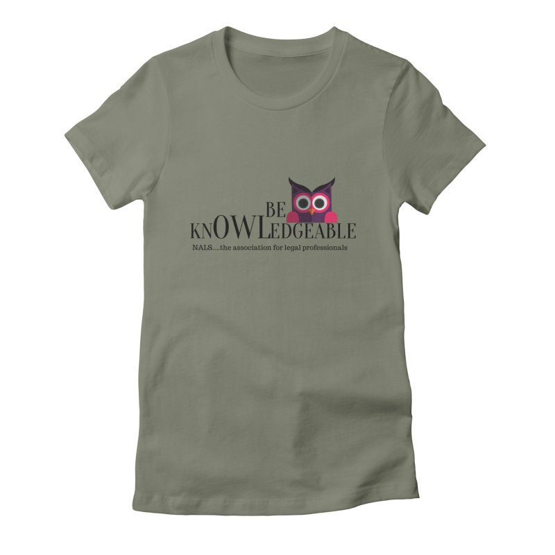 Be Knowledgeable Women's Fitted T-Shirt by NALS Apparel & Accessories