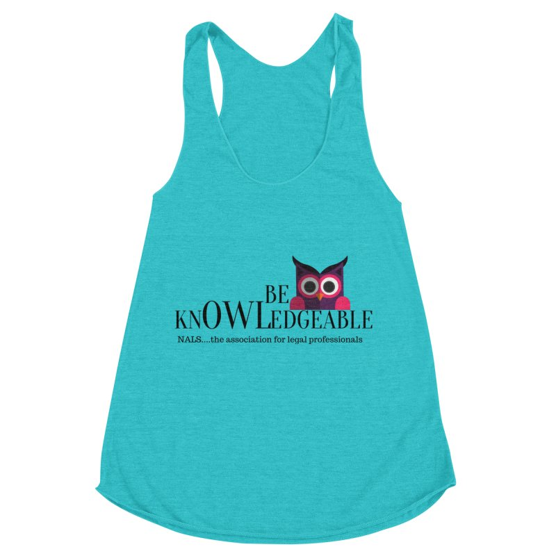 Be Knowledgeable Women's Racerback Triblend Tank by NALS Apparel & Accessories