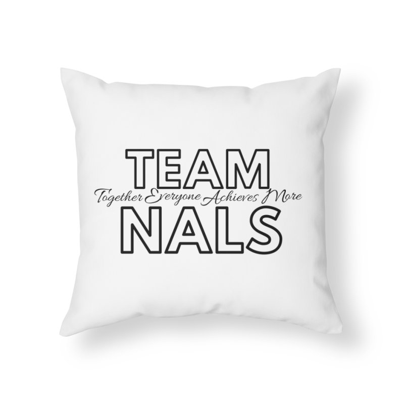 Team NALS Home Throw Pillow by NALS Apparel & Accessories