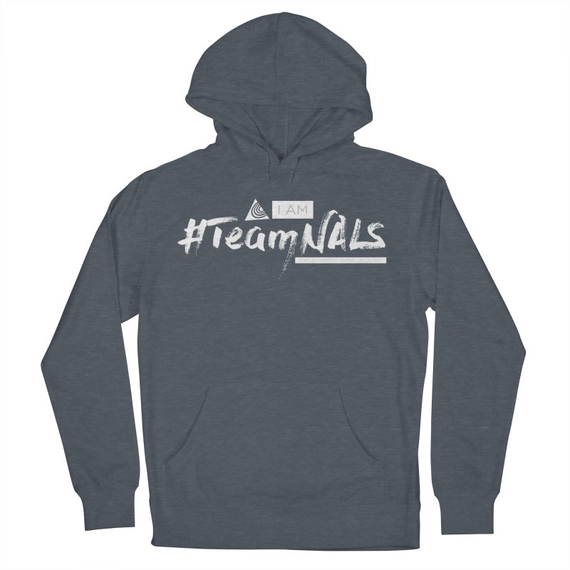 #TeamNALS-White Men's French Terry Pullover Hoody by NALS.org Apparel Shop