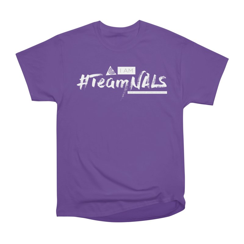 #TeamNALS-White Men's Heavyweight T-Shirt by NALS.org Apparel Shop