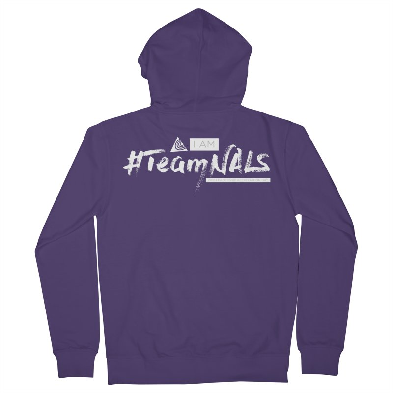 #TeamNALS-White Women's French Terry Zip-Up Hoody by NALS.org Apparel Shop