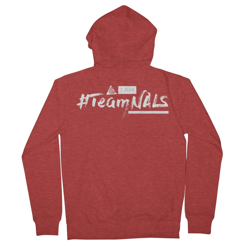 #TeamNALS-White Men's French Terry Zip-Up Hoody by NALS.org Apparel Shop