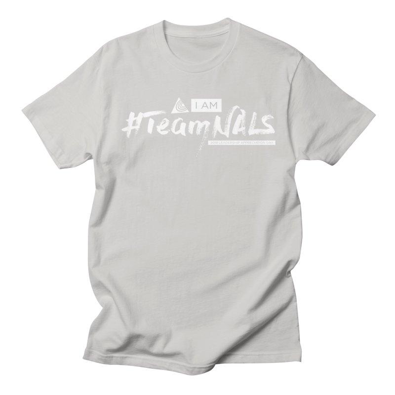 #TeamNALS-White Men's Regular T-Shirt by NALS.org Apparel Shop