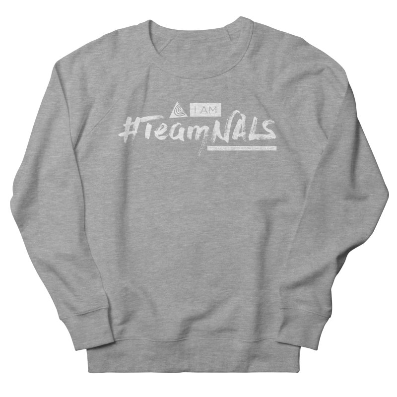 #TeamNALS-White Men's French Terry Sweatshirt by NALS.org Apparel Shop