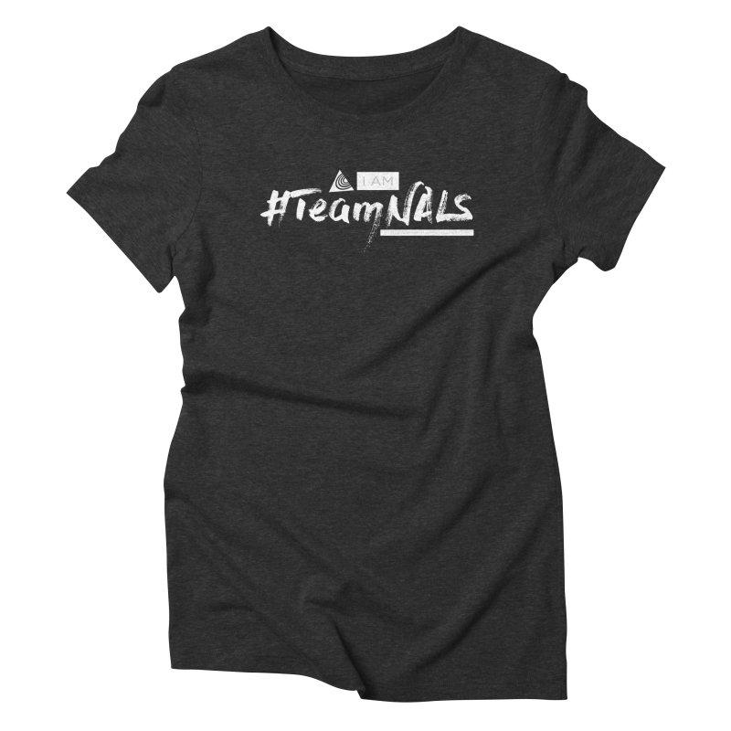 #TeamNALS-White Women's Triblend T-Shirt by NALS.org Apparel Shop