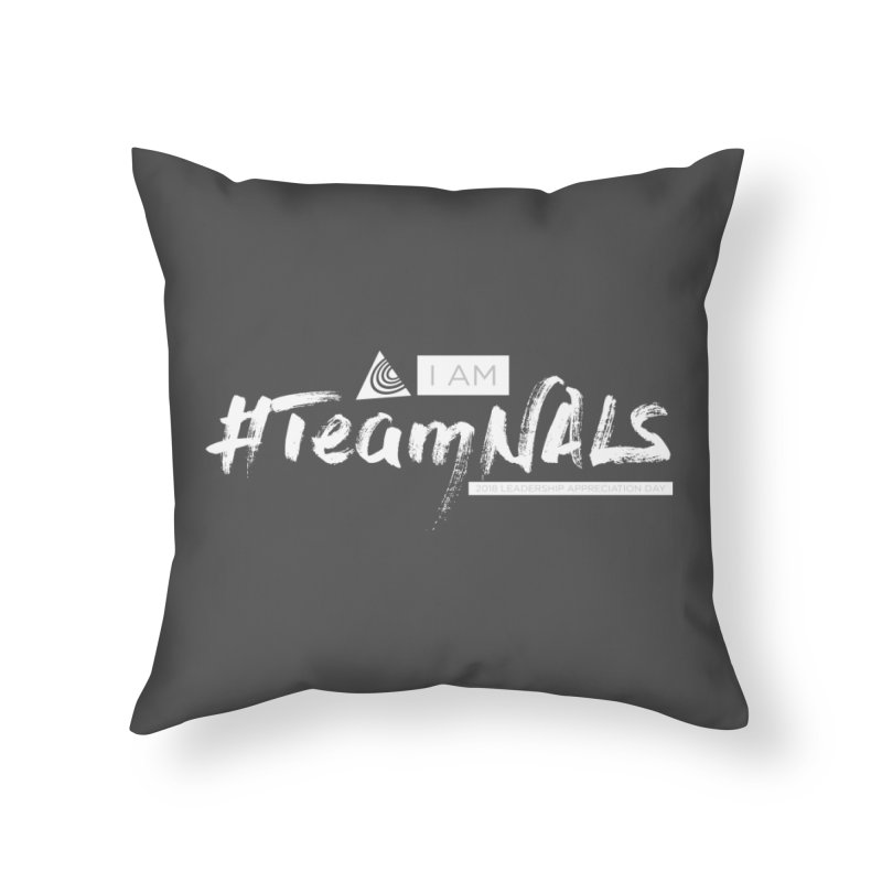 #TeamNALS-White Home Throw Pillow by NALS.org Apparel Shop