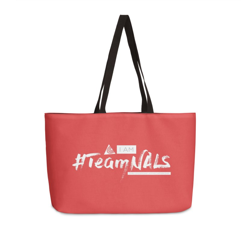 #TeamNALS-White Accessories Weekender Bag Bag by NALS.org Apparel Shop