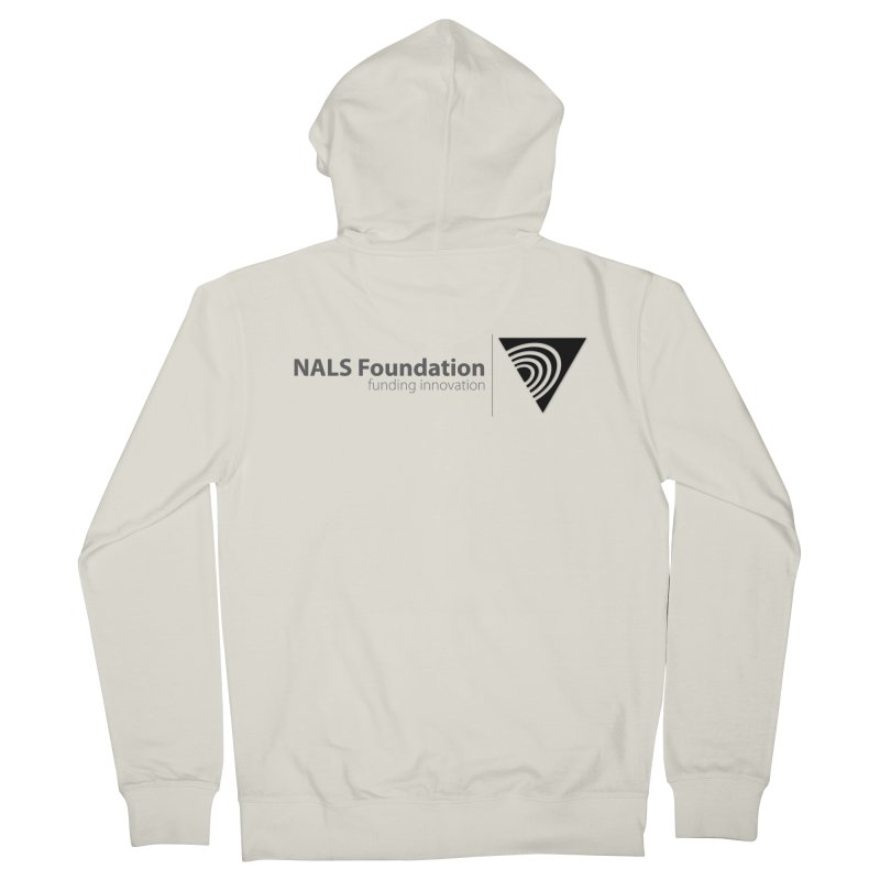 NALS Foundation Greyscale Logo Men's French Terry Zip-Up Hoody by NALS.org Apparel Shop