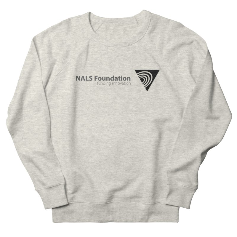 NALS Foundation Greyscale Logo Men's French Terry Sweatshirt by NALS.org Apparel Shop