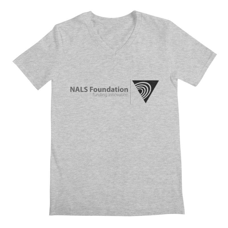 NALS Foundation Greyscale Logo Men's Regular V-Neck by NALS.org Apparel Shop