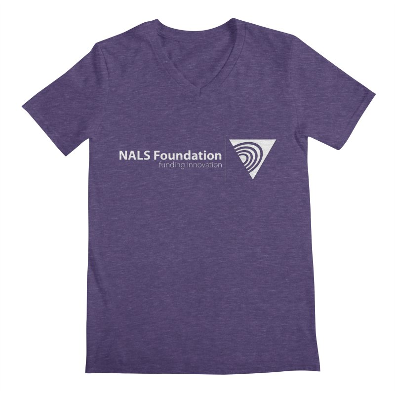 NALS Foundation - White Logo Men's V-Neck by NALS Apparel & Accessories