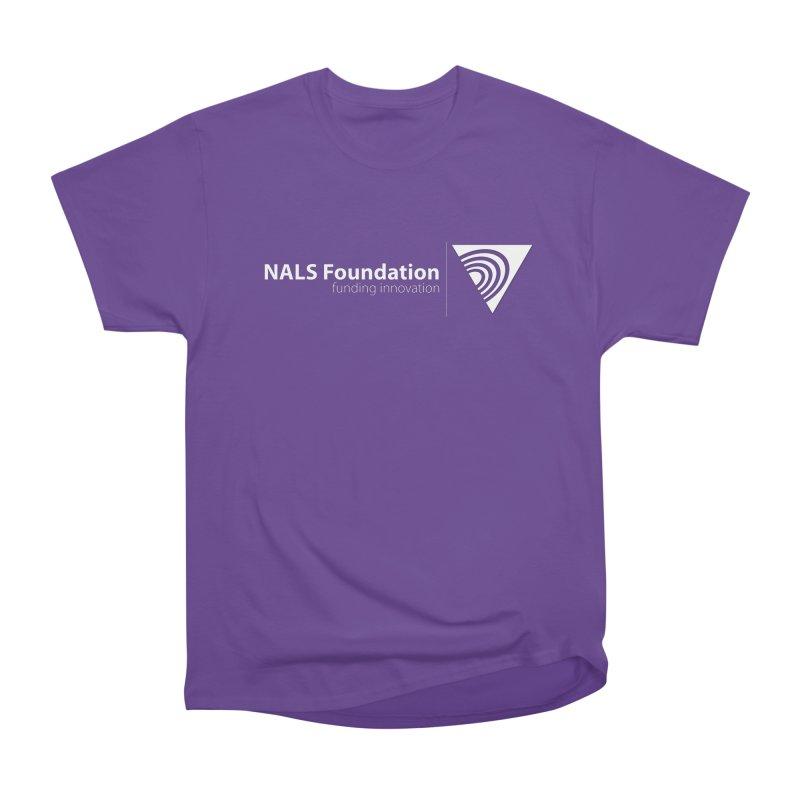 NALS Foundation - White Logo Women's Heavyweight Unisex T-Shirt by NALS.org Apparel Shop