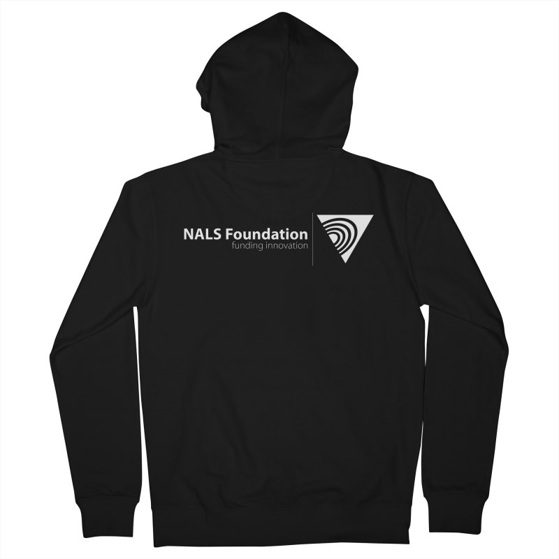 NALS Foundation - White Logo Men's Zip-Up Hoody by NALS Apparel & Accessories