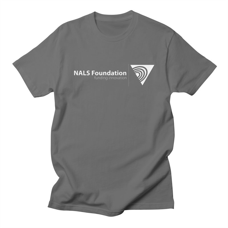 NALS Foundation - White Logo Men's T-Shirt by NALS Apparel & Accessories