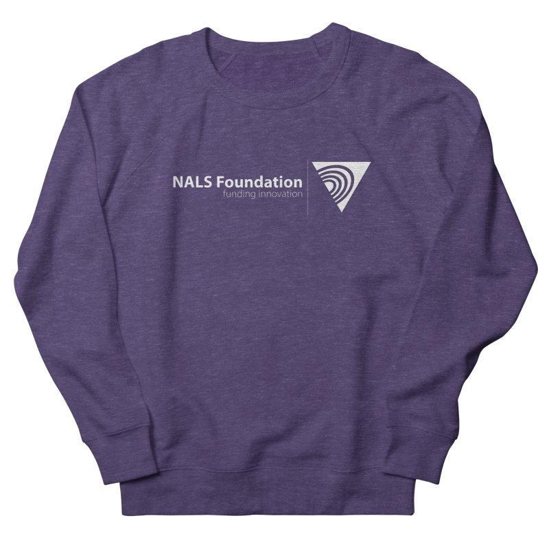NALS Foundation - White Logo Men's French Terry Sweatshirt by NALS Apparel & Accessories