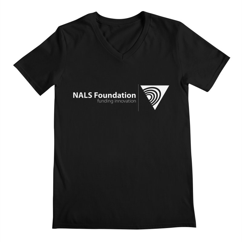 NALS Foundation - White Logo Men's Regular V-Neck by NALS.org Apparel Shop