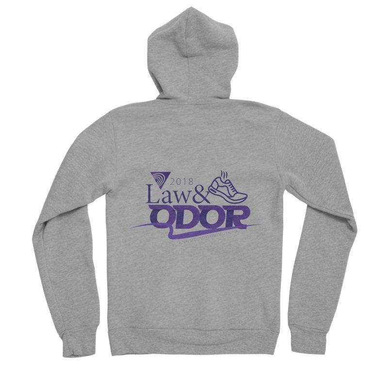 Law and Odor - Color Logo Men's Sponge Fleece Zip-Up Hoody by NALS Apparel & Accessories