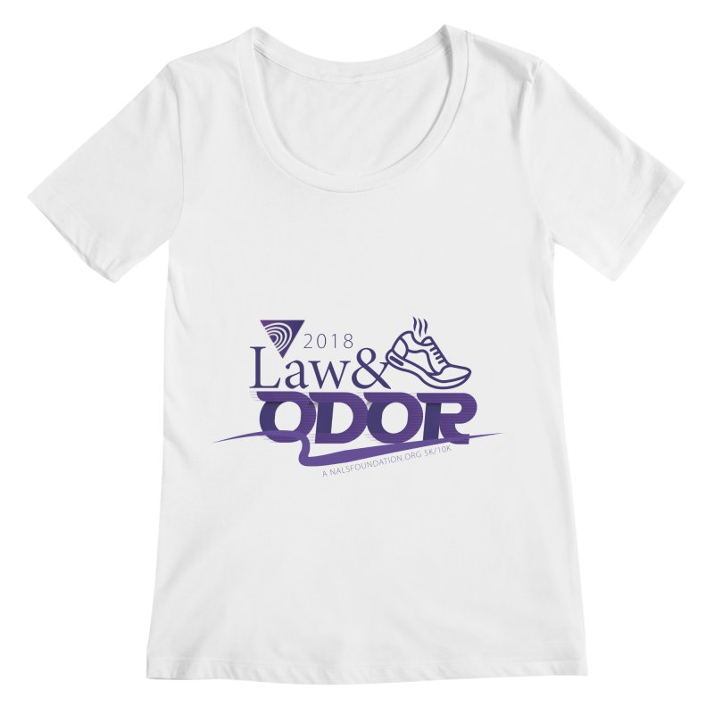 Law and Odor - Color Logo Women's Regular Scoop Neck by NALS Apparel & Accessories