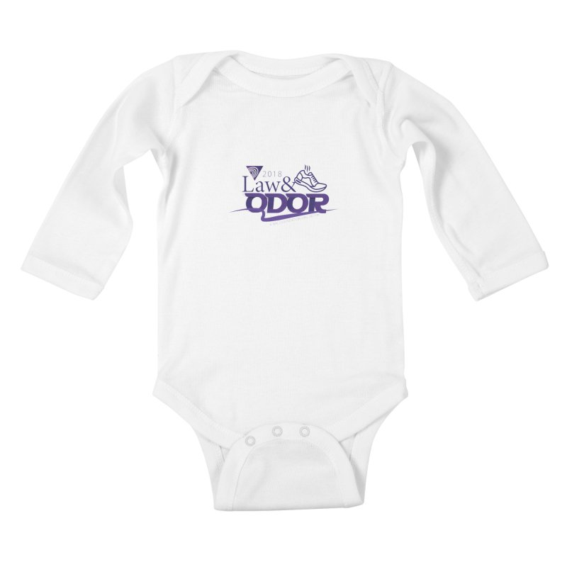 Law and Odor - Color Logo Kids Baby Longsleeve Bodysuit by NALS.org Apparel Shop