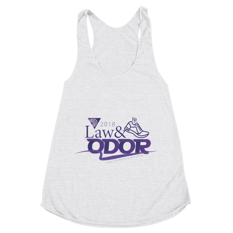 Law and Odor - Color Logo Women's Racerback Triblend Tank by NALS Apparel & Accessories