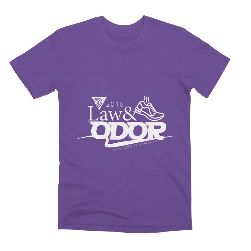 Law and Odor - White Logo Men's Premium T-Shirt by NALS.org Apparel Shop